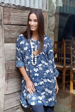 that bird label Tallulah LS Tunic - Womens Knee Length Dresses at Birdsnest