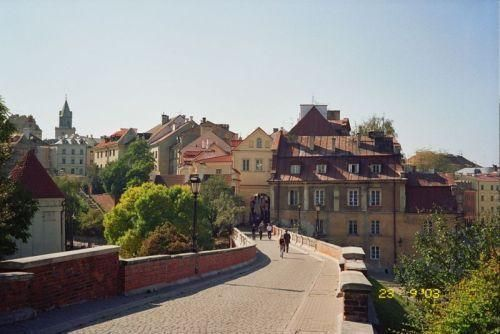 The street leading from the castle towards the Old Town