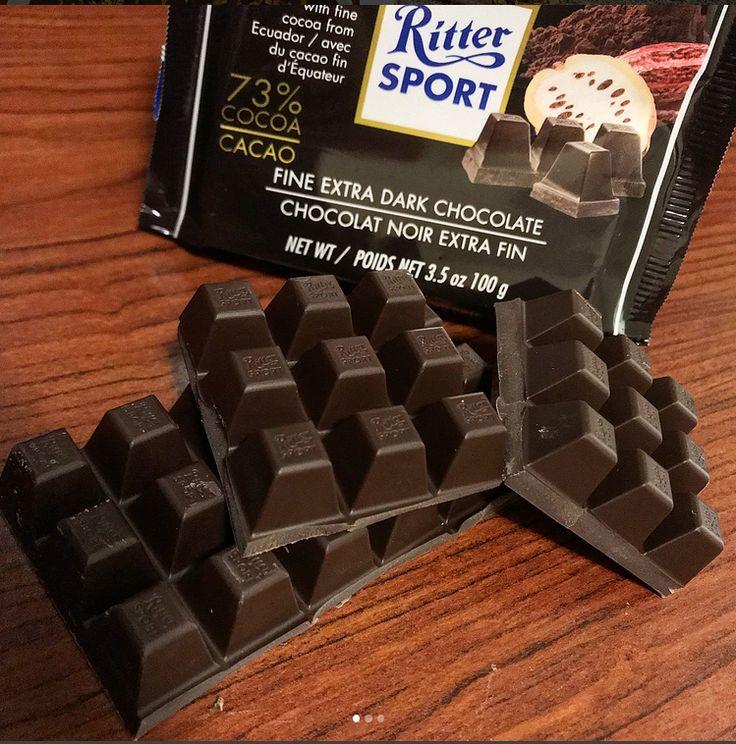 Ritter Sport Fine Extra Dark Chocolate Bar Dark