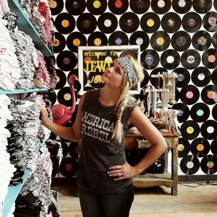 Miranda Lambert in The Pink Pistol store.