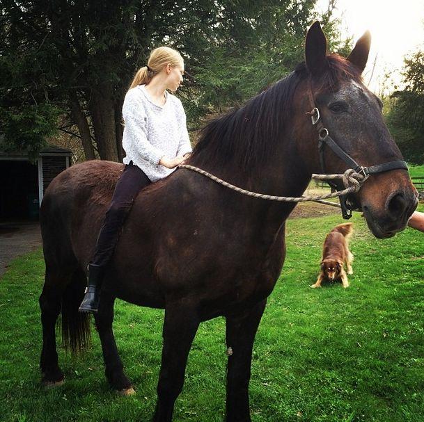 Amanda Seifried horseback riding