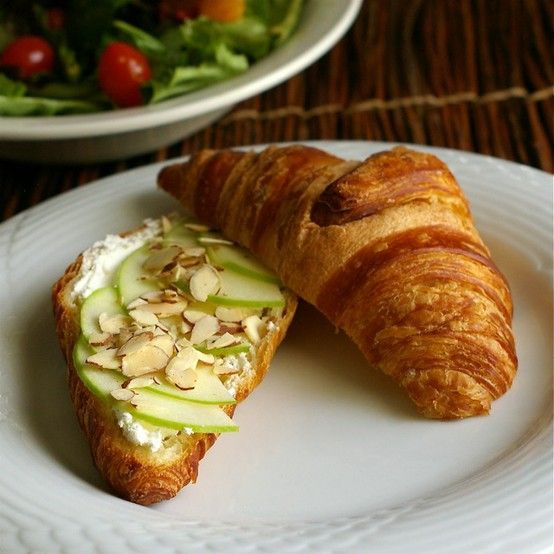 apple, cream cheese, & almond croissant
