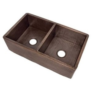 Belle Foret Dual Apron Kitchen Sink Oil Rubbed Bronze