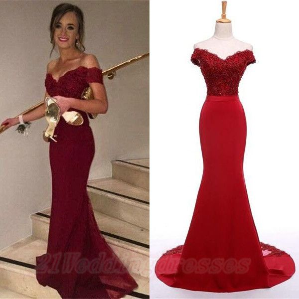 long dresses prom red
