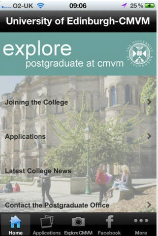 Download the College app for information on Joining the College, the latest College news, and links to all our social media sites. It's currently available only for iOS platforms such as iPad and iPhone but we hope to roll it out onto Android soon! Search for UOE CMVM on iTunes app store.