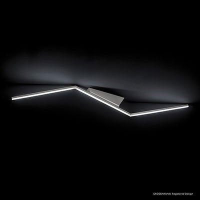 Plafonnier en aluminium brossé  Éclairage LED intégrée