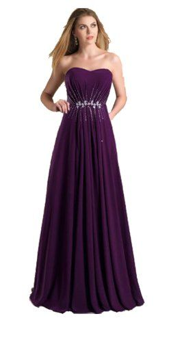 Purple Sweetheart Sequin Waist Aline Long Prom Dresses (US 8) Kissprom