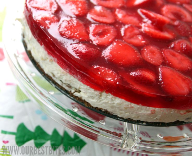 Creamy Strawberry Jello Pie | Our Best Bites