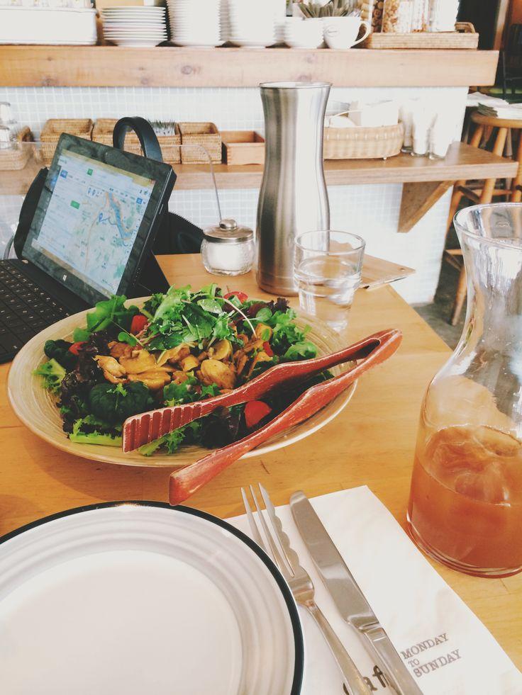 Curry chicken salad | http://allermanger.me