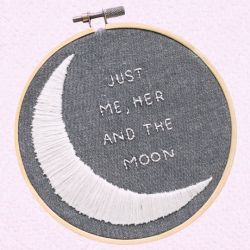 """""""You & Me & The Moon""""   (when I look in your eyes/I go soft inside/and the sound of your voice/sends shivers up my spine/and at the slightest touch/we're in love/you, me and the moon)"""