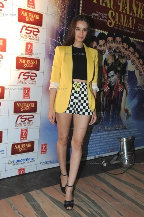Evelyn Sharma wore head to toe Zara at the special screening of her sophomore film Nautanki Saala at Liberty Cinema in Marine Lines, Mumbai on Thursday, April 11.