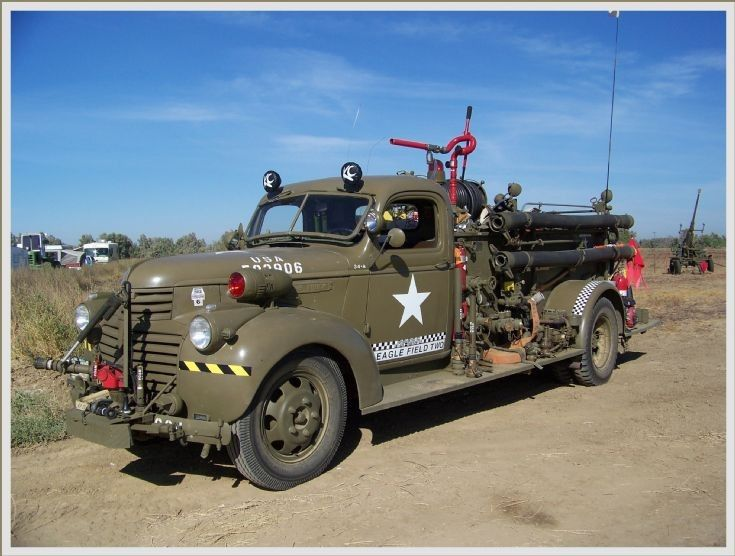 military fire trucks | Military Vehicle Photos - 1942 GMC Army Fire Truck