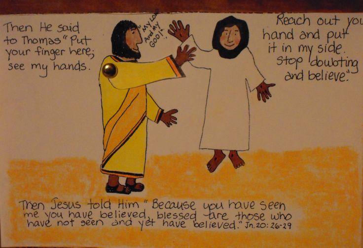 Doubting Thomas Bible Lesson Craft Toddler