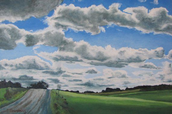 François Fournier Canadian Impressionist  http://francoisfournierart.com/  This painting depicts a scenery of the country roads of Waterville, in the Eastern Townships of Quebec, Canada.