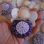 Luty Artes Crochet: Anjinhos de fuxico.