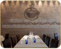 Vinilos Decorativos para Cocina 04 | Taza con cenefa http://vinilosdecorativosmx.com/vinilos-para-pared/vinilos-de-cocina