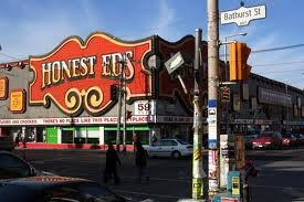 Bloor and Bathurst Intersection. Landmark: Honest Eds.