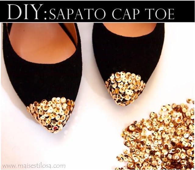 DIY: Customização de sapato cap toe passo a passo - Mais Estilosa