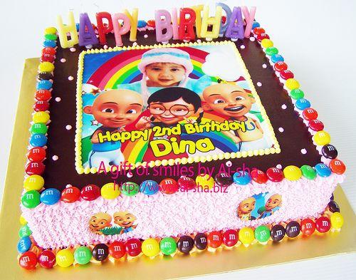 Birthday Cake with Upin & Ipin Edible Image Cake for ...