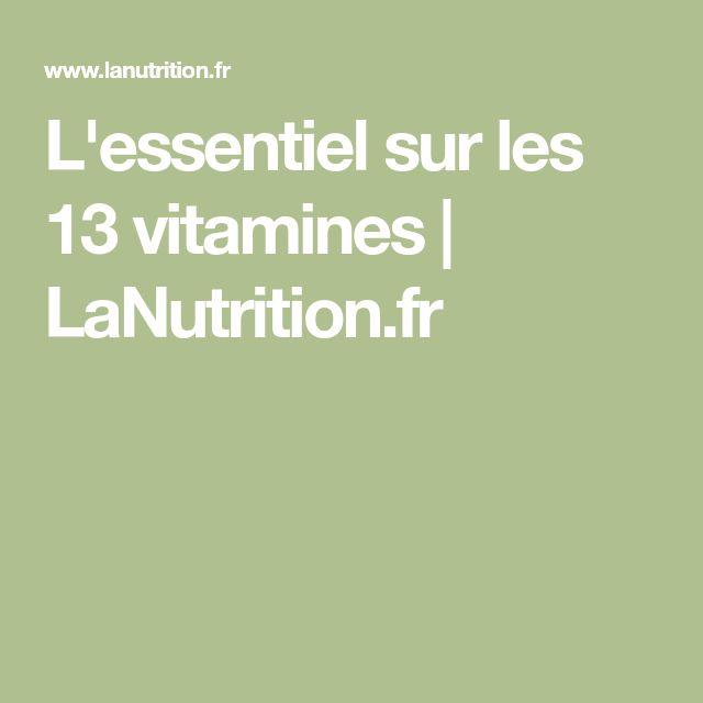 L'essentiel sur les 13 vitamines | LaNutrition.fr