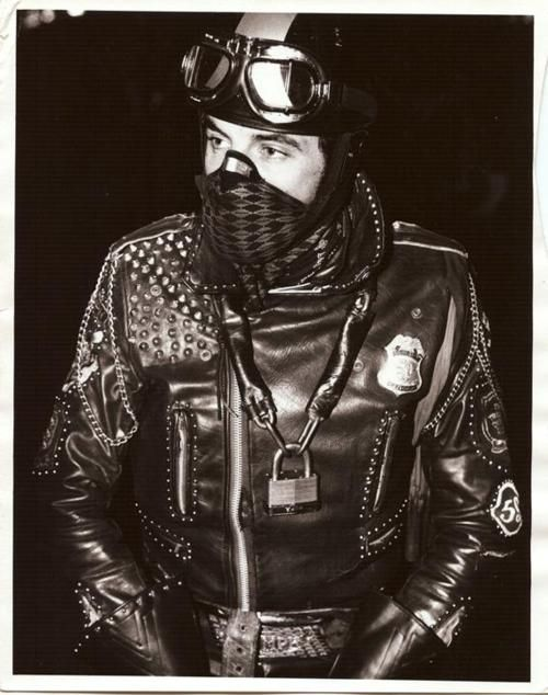 in leathers