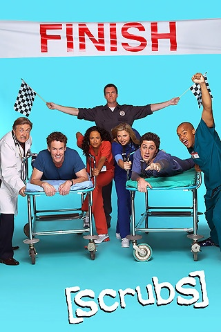 Scrubs...one of the funniest shows set in a hospital!  I would actually hurt from laughing and would have to watch episodes again since I missed half of the lines!  Fast paced, great ensemble cast, many references to pop culture.
