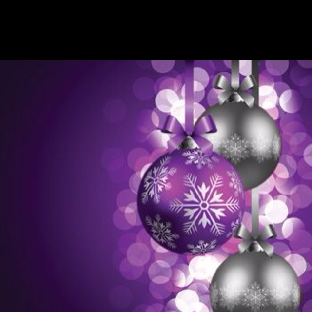 105 Best Images About Purple Christmas On Pinterest