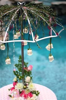 I LOVE this centerpiece.  April Showers........