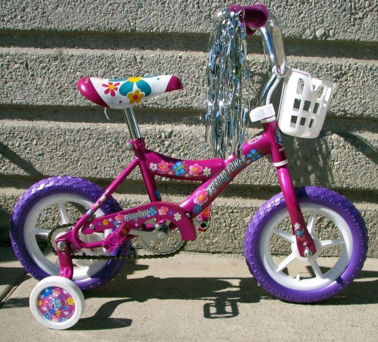"NEW 12"" GIRLS BIKE PURPLE COASTER BRAKE TRAINING WHEELS 2 TO 4 YEARS OLD KIDS! #toproadpower #kidsbike"