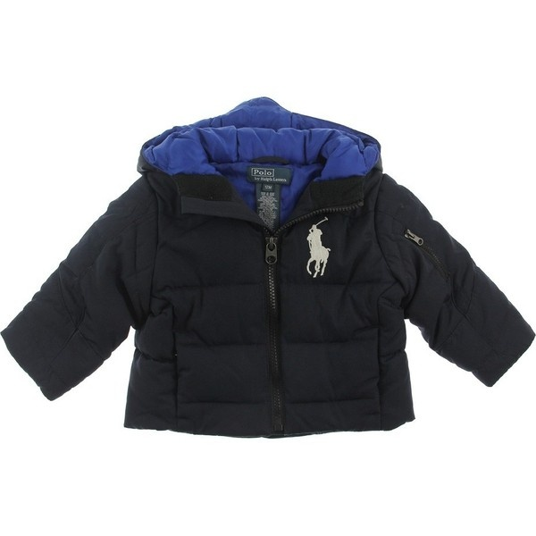 Ralph Lauren Baby Boys Navy Down Padded Coat With Big Pony Logo ($120) ❤ liked on Polyvore