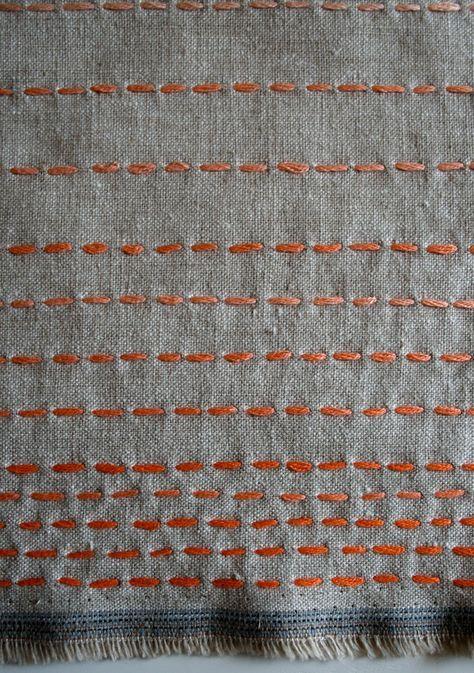 Running Stitch Scarf | Purl Soho - Create