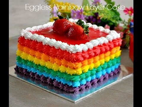 how to make rainbow cake easy recipe