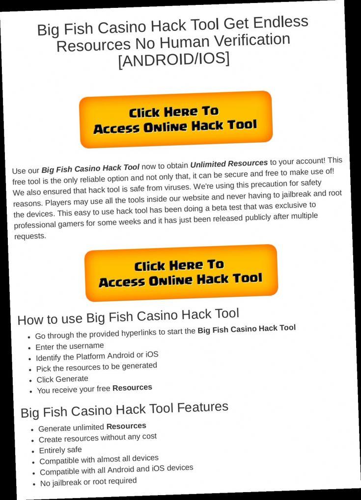 big fish casino hack no verification в 2020 г