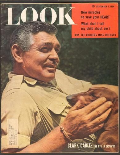 Clark Gable LOOK MAGAZINE SEPTEMBER 7 1954