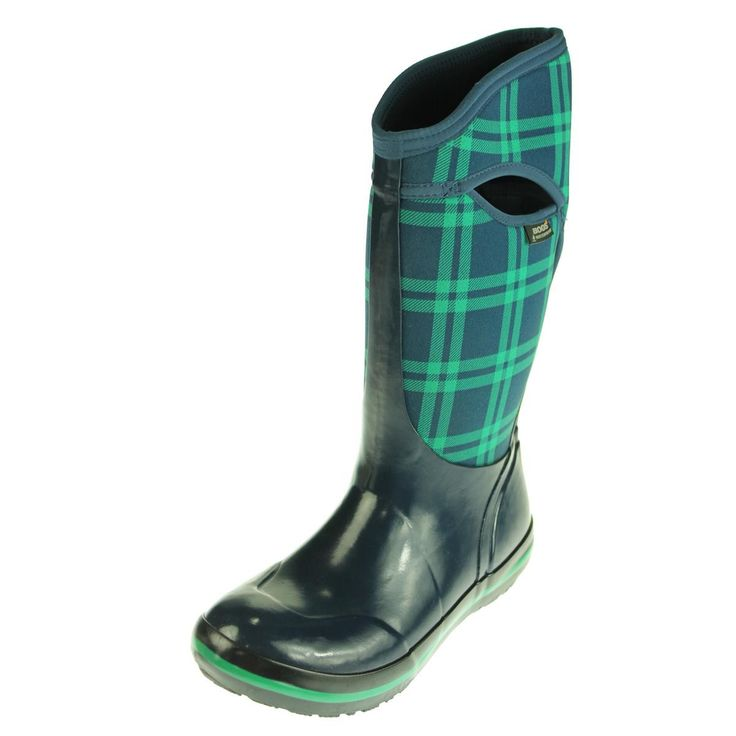 Bogs Womens Plaid Waterproof Insulated Boots
