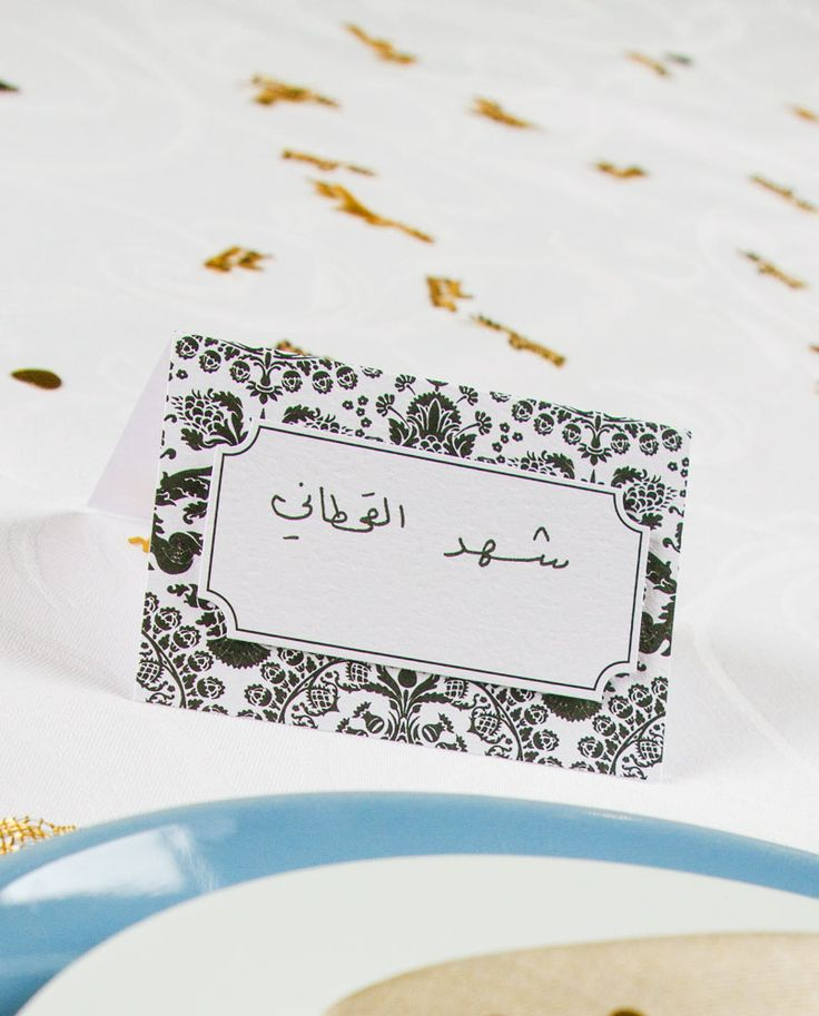 table top name cards