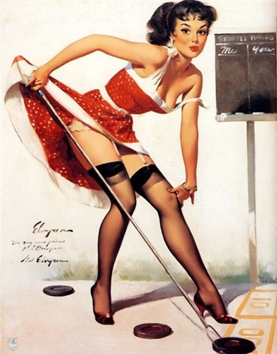 Shuffleboard :): Gilelvgren, Elvgren Pinup, Shuffl Boards, Pinupart, Vintage Pinup, Pinup Girls, Pinup Art, Gil Elvgren, Pin Up Girls