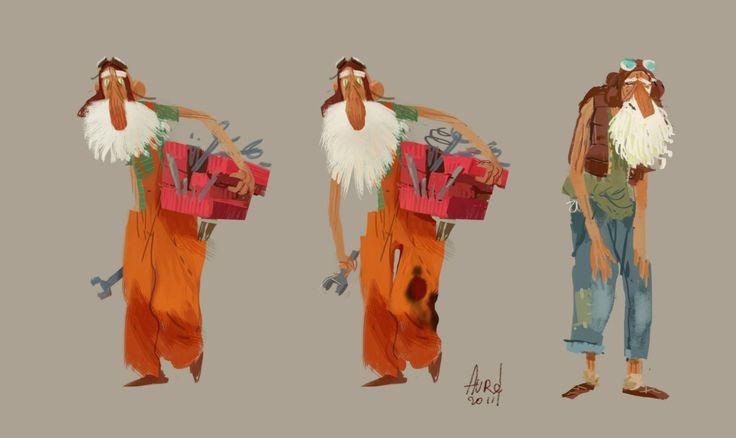 "CATSUKA - Concept designs by Aurelien Predal for ""The Little..."