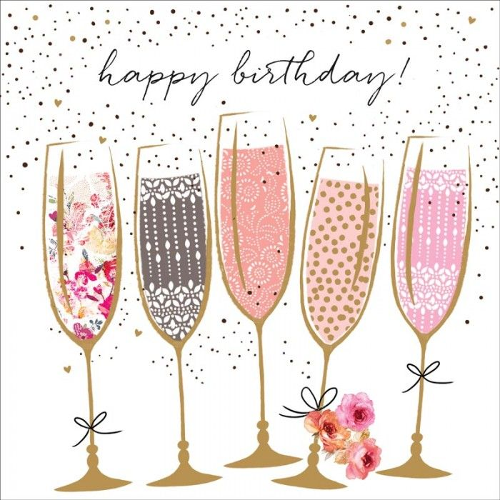 17 Best Images About Birthday Cards On Pinterest: Jaz And Baz - Birthday Champagne