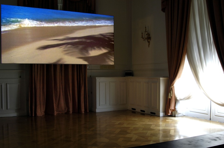 """""""Her(his)tory"""" Video art exhibition. Rodney Graham Vexation Island, 1997. 35 mm film transferred to DVD. Courtesy the artist and Lisson Gallery. Photo credit: Rebecca Constantopoulou & Fanis Vlastaras."""