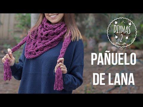 Bufanda - Pañuelo de lana - YouTube