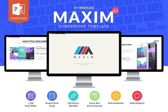 Maxim , Business Powerpoint Template by MeemSlide on @creativemarket