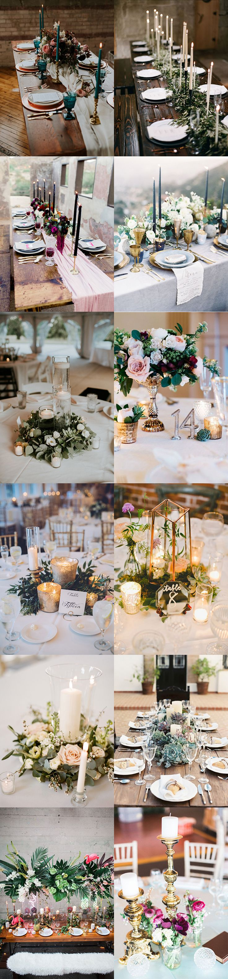 Pillar candles, tea light candles, tapered candles, beautiful table centrepieces, wedding reception, tablescapes, candles and flowers, wedding table decor
