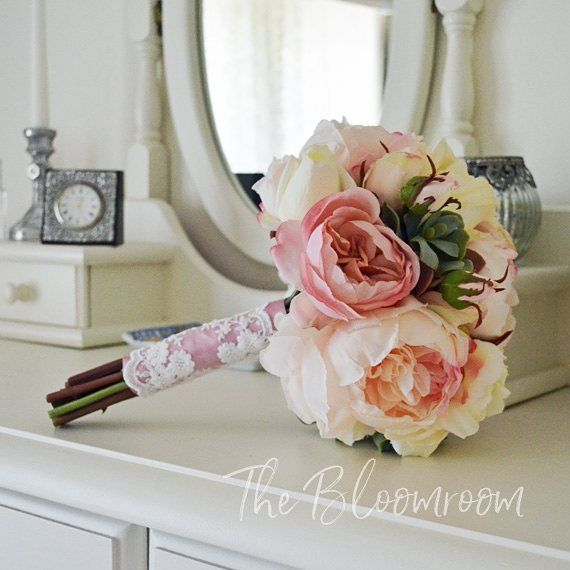 Love this bouquet! I know I say that alot, but hey; I need to love what I do as well as what I make! Classic antique pink, blush and cream. Available in the Etsy store. #bloomroomdesigns #etsy #etsyshop #etsyseller #bouquet #silkbridalbouquet #weddingbouq