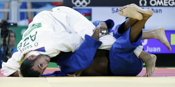 DAY 1:  Men's Judo - Orkhan Safarov of Azerbaijan vs Juan Postigos of Peru