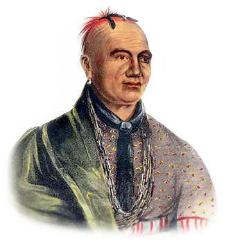 Picture of a Mohawk Indian. Taken from http://www.warpaths2peacepipes.com/
