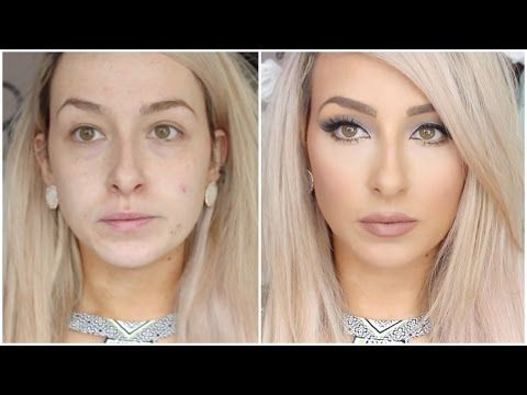 long lasting, flawless full coverage foundation routine - Full face makeup bronzer, blush, concealer - YouTube
