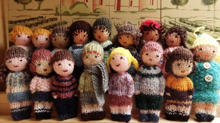 Petites poupées en laine, garçons et filles. : Jeux, jouets par la-fabrique-de-cadot