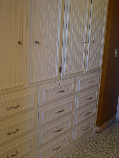 Fake wainscoting tutorial the o 39 jays wainscoting and for Beadboard kitchen cabinets