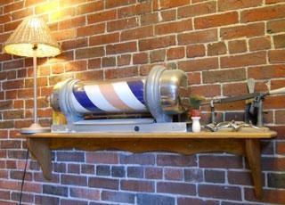 Barber Shop Portland Maine : Antique Barbershop Memorabilia at Bens Old Port Barber Shop in # ...